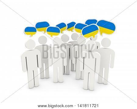 People With Flag Of Ukraine