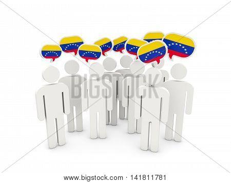 People With Flag Of Venezuela