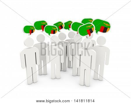 People With Flag Of Zambia