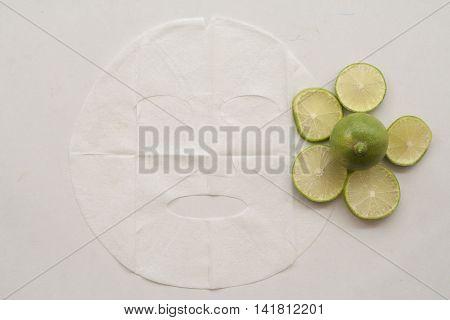 natural sheet mask for the face herbal is lemon