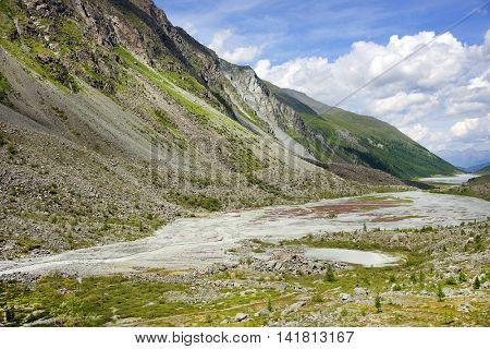 Alpine landscape in Altai Mountains, Russian Federation