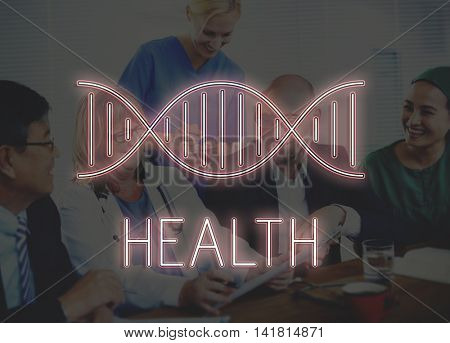 Health DNA Structure Symbol Concept