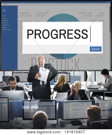 Progress Analytics Strategy Solution Business Concept