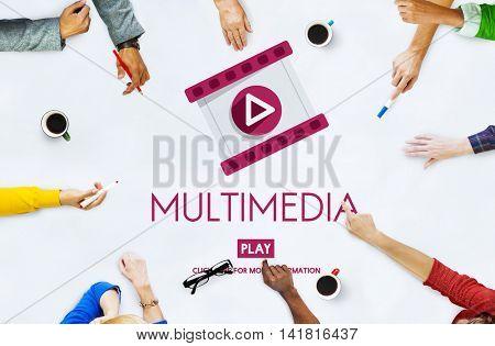 Multimedia Entertainment Media Digital Concept