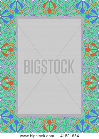 Frame from traditional celtic an ornament - a vector