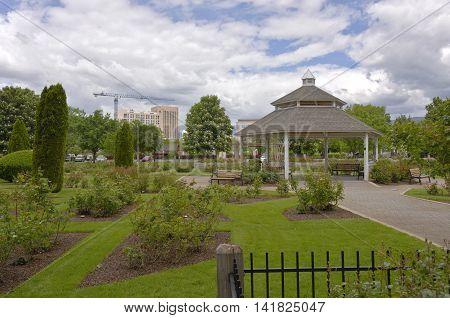 Public gardens and gazebo in Boise Idaho