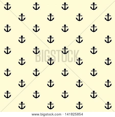 vector illustration of a seamless anchor background