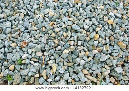 Crushed gravel texture on ground, natural background