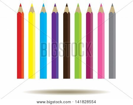 vector illustration of a school background with pencils