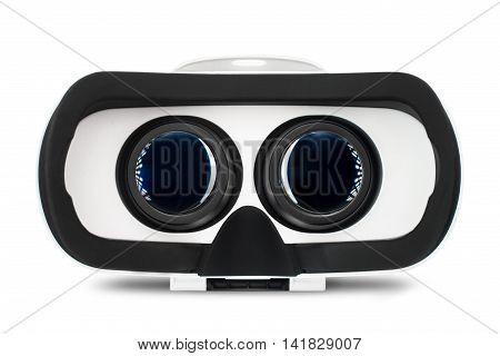 Virtual reality glasses, VR goggles for simulation immersive multimedia, isolated on white background. poster