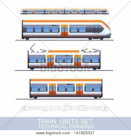 Speed Train Illustration