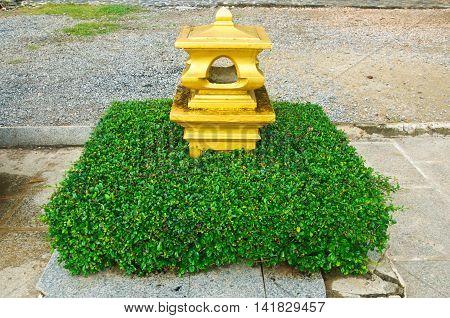 pillar gold in temple Thailand, Thai art