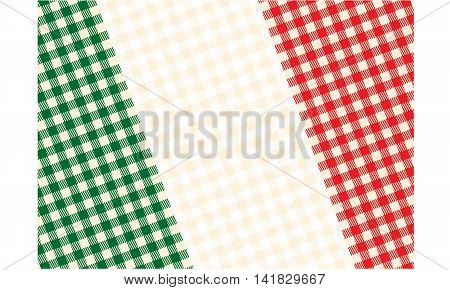 Tablecloth design flag of Italy in vector