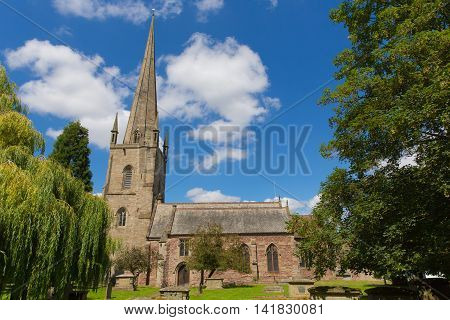 St Mary`s church Ross-on-Wye in the Wye Valley Herefordshire England uk