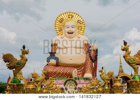 Statue At Big Buddha Area In Wat Plai Laem, Koh Samui,thailand