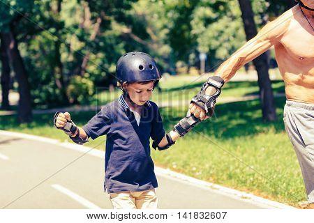 Little Boy Roller Skating