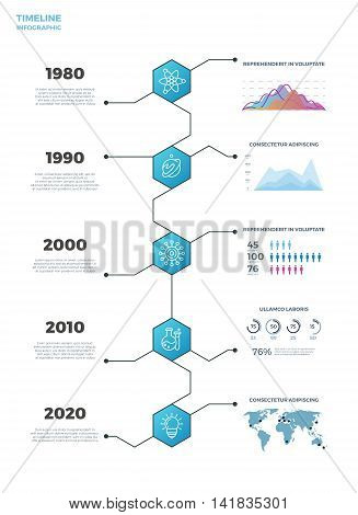 Timeline business vector infographics. Template timeline for presentation, illustration statistic and information timeline banner