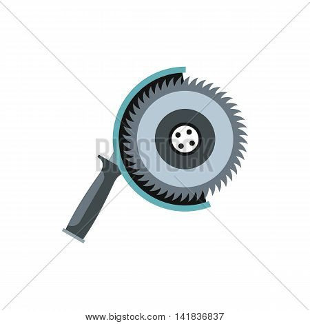 Circular saw icon in flat style isolated on white background. Tool symbol