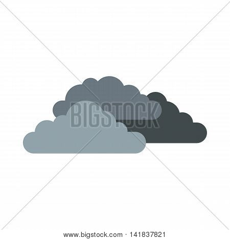Clouds icon in flat style isolated on white background. Sky symbol
