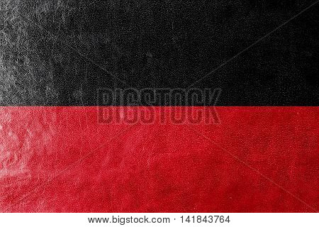 Flag Of Nijmegen, Netherlands, Painted On Leather Texture