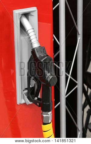 Fuel pump with pistol on exhibition