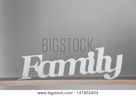 Word Family on color background