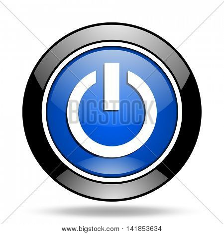 power blue glossy icon