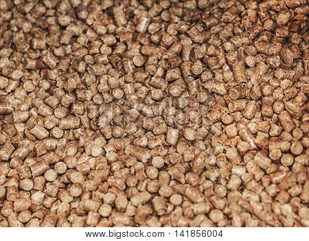 Pelleted compound feed background