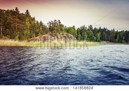 Ladoga Lake, Colorful Coastal Landscape