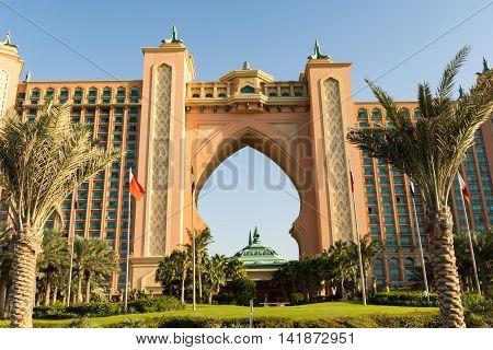 Hotel Atlantis on DECEMBER 31 2015 in Dubai UAE.