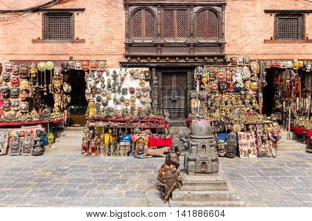 A shop selling Buddhist items in Bhaktapur,