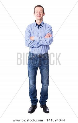 Handsome Middle Aged Business Man Isolated On White