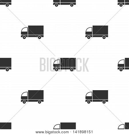 Seamless pattern with truck on white background