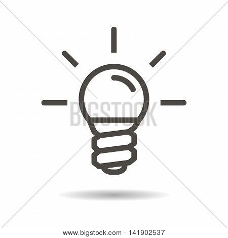 electric lamp flat icon on a white background