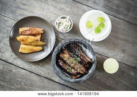 glazed pork ribs gourmet asian fusion style
