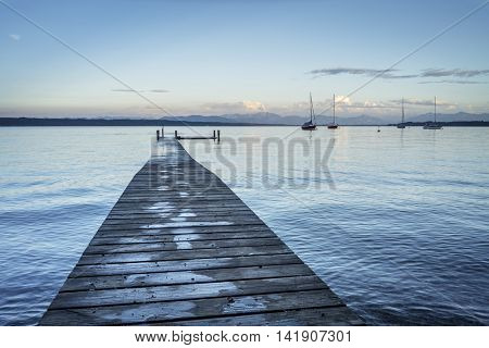 An image of the Starnberg Lake near Tutzing Bavaria Germany