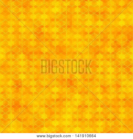 Orange seamless pattern with hexagon shapes abstract color background. Blank template swatches vector illustration save in 10 eps