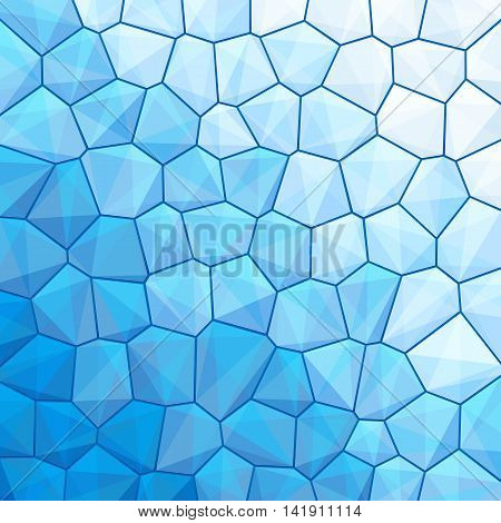 Blue abstract geometrical background with sexangle, triangle shapes with copy space for your text, sign. Color template swatches square format. Vector illustration clip-art web design element 10 eps