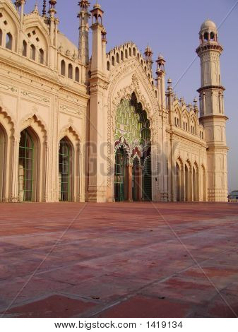 Outer Platform Of Jama Masjid Of Lucknow