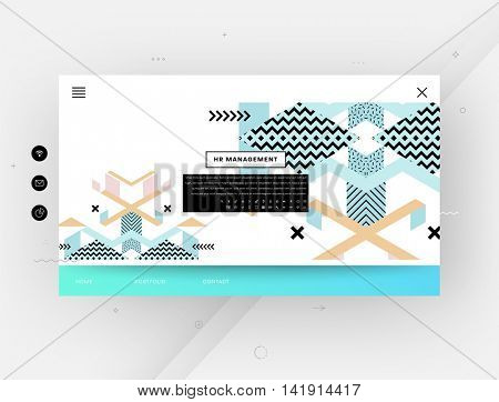 Website template, abstract background with geometric patterns, vector