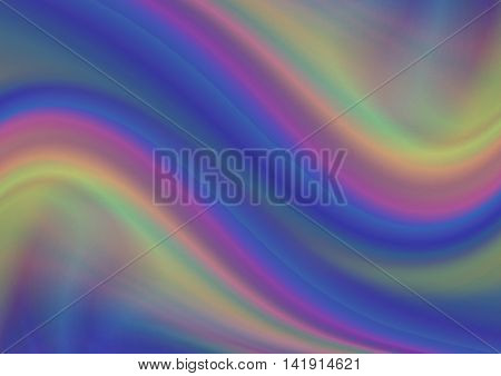 Abstract frosted rainbow wavy background in bluish,purple,yellow shades