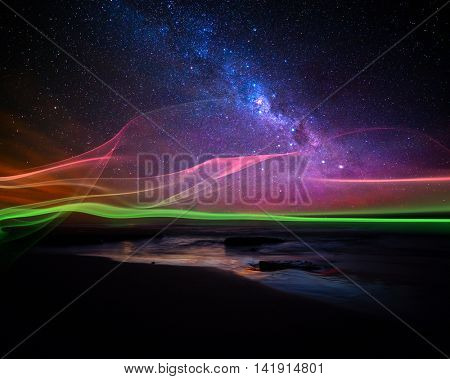 Abstract aurora