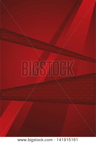 Red abstract background. Vector. Geometric Illustration.  Line
