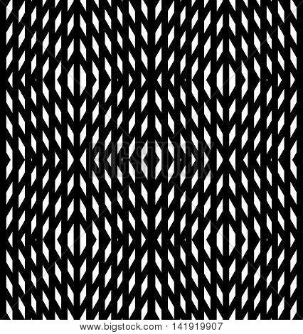 Abstract geometric background. Optical illusions white diamonds. Seamless texture