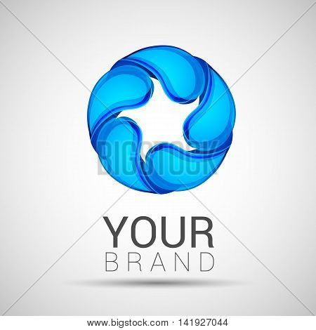 Abstract Twisted Water Drops Logo Template Corporate Identity