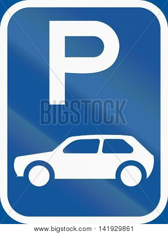 Road Sign Used In The African Country Of Botswana - Parking For Motorcars