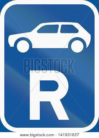 Road Sign Used In The African Country Of Botswana - Reservation For Motorcars