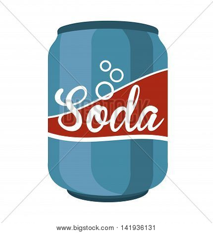 soda can drink icon vector illustration design