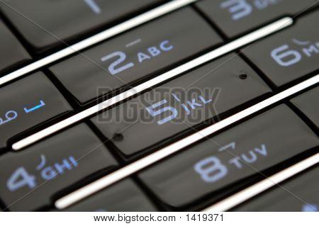 Close Up Shot Of Mobile Keypad Under Light