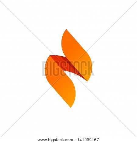 Flame vector logo design template concept isolated on white background, sharp spear elegant geometric element icon, abstract creative modern candle fire brand design, beauty orange gradient identity